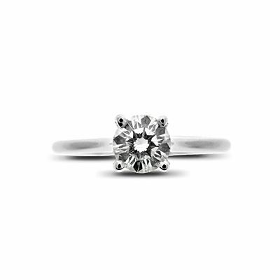 Brilliant Cut Claw Set Engagement Ring 0.53ct K VS2 GIA